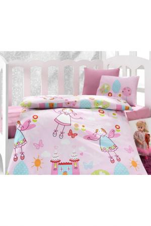 Baby Set of 4 pieces Cotton box. Цвет: pink, white and blue