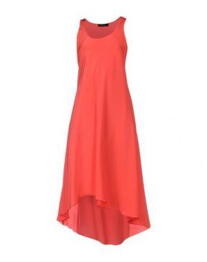 Платье до колена FABRIZIO LENZI. Цвет: коралловый