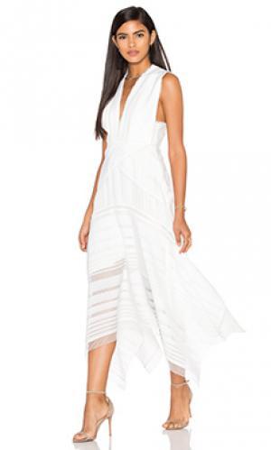 Ажурное макси платье argent Acler. Цвет: белый