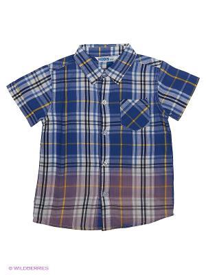 Рубашка с коротким рукавом Modis. Цвет: светло-зеленый, голубой, белый