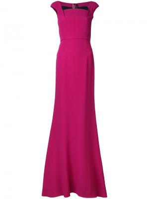 Длинное вечернее платье Roland Mouret. Цвет: розовый и фиолетовый