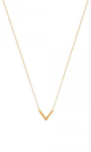 Цепочка с v-подвесом Miansai. Цвет: металлический золотой