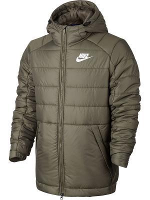 Куртка M NSW SYN FILL JKT HD Nike. Цвет: оливковый