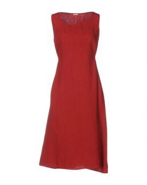 Платье до колена A.B APUNTOB. Цвет: красный