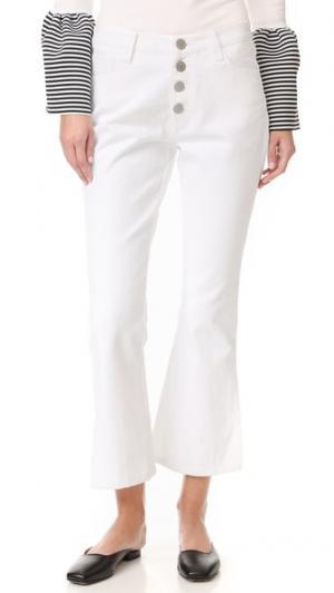 Расклешенные брюки Petal Vale. Цвет: белый
