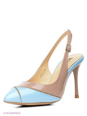 Туфли Vitacci. Цвет: голубой, бежевый