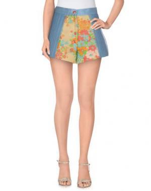 Повседневные шорты CATERINA GATTA. Цвет: небесно-голубой