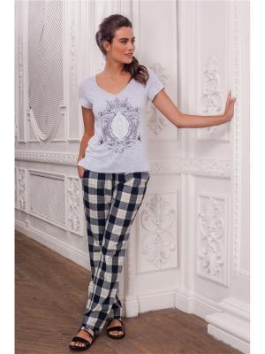 Пижама Laete. Цвет: серый