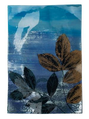 Блюдо 43х28см Elff Ceramics. Цвет: голубой, синий, коричневый