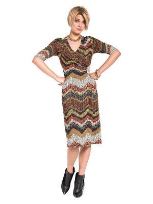Платье APART. Цвет: черный, оранжевый, белый