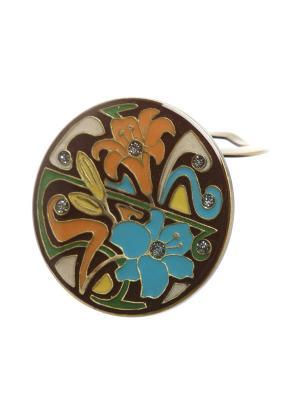 Зажим Clara Bijoux. Цвет: коричневый, голубой, оранжевый