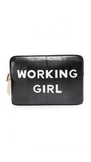 Чехол для ноутбука с надписью «Working Girl» Iphoria. Цвет: черный/белый