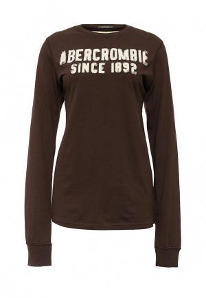Лонгслив Abercrombie & Fitch. Цвет: коричневый