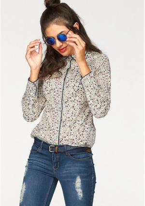 Блузка AJC. Цвет: белый/ярко-розовый