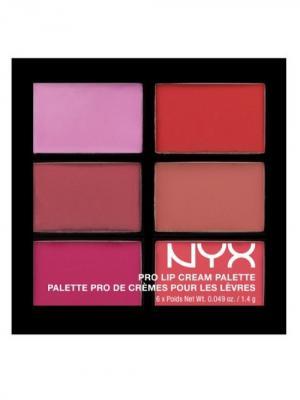 Палетка помады для губ. PRO LIP CREAM PALETTE - PINKS 01 NYX PROFESSIONAL MAKEUP. Цвет: зеленый