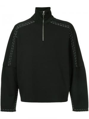 Куртка с открытой строчкой Oamc. Цвет: чёрный