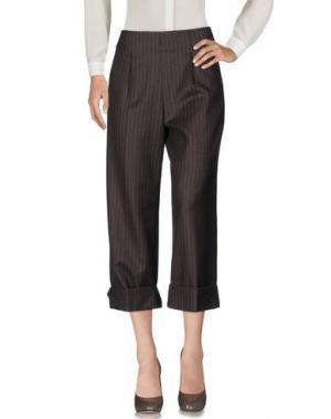 Повседневные брюки LAVINIATURRA. Цвет: темно-коричневый