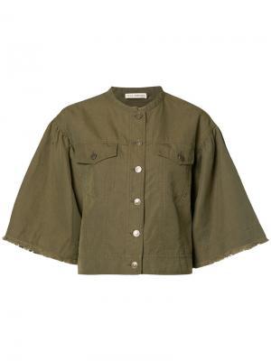 Куртка с широкими рукавами Ulla Johnson. Цвет: зелёный