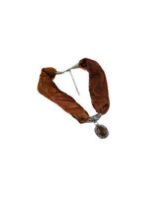 Дизайнерское ожерелье-кулон FOXTROT. Цвет: терракотовый