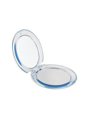 Зеркало Beiron 008S карманное, складное, d 8см , x3. Цвет: голубой