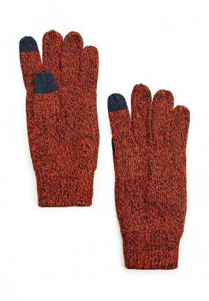 Перчатки Jack & Jones. Цвет: оранжевый
