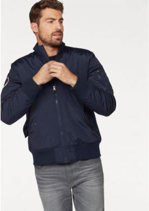 Куртка-бомбер Rhode Island. Цвет: темно-синий