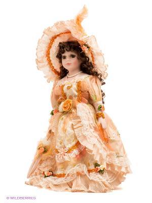 Кукла фарфоровая Георгина Lisa Jane. Цвет: бледно-розовый, оранжевый, желтый