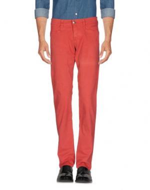 Повседневные брюки 9.2 BY CARLO CHIONNA. Цвет: красный