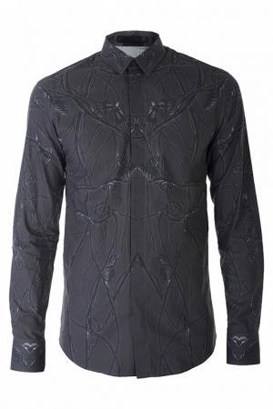 Рубашка Alexander McQueen. Цвет: коричневый