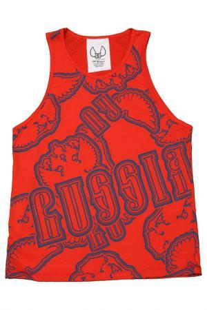 Майка Россия. Цвет: красный