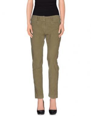 Повседневные брюки MASSIMO ALBA. Цвет: зеленый-милитари