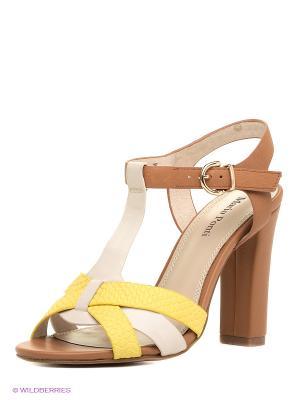 Босоножки Mario Ponti. Цвет: коричневый, кремовый, желтый