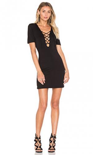 Мини платье carley De Lacy. Цвет: черный