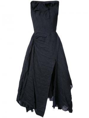 Расклешенное платье миди Maticevski. Цвет: синий