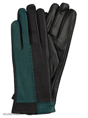Перчатки женские с эффектом Touch Screen Marco Bonne`. Цвет: черный, морская волна