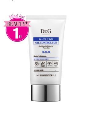 Крем солнцезащитный с регенерирующими свойствами для проблемной кожи SPF 50+ PA+++ A-Clear,50 мл. Dr.G. Цвет: белый