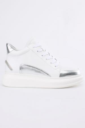 Ботинки NURIA. Цвет: белый, серебряный