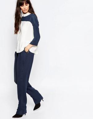 Just Female Синие свободные штаны Gibbs. Цвет: синий