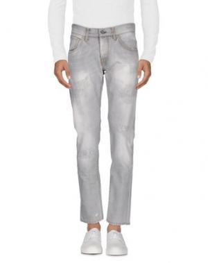 Джинсовые брюки 2 MEN. Цвет: светло-серый