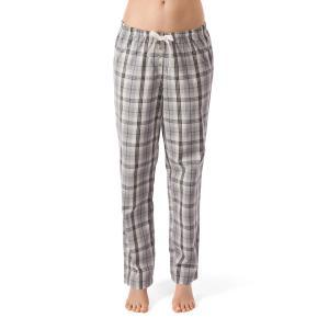 Брюки пижамные из хлопка, Sleep Dream SKINY. Цвет: в клетку серый/розовый