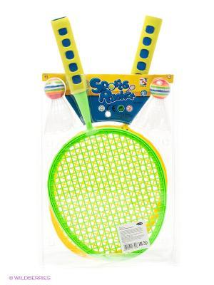 Набор для пляжного тенниса Amico. Цвет: салатовый