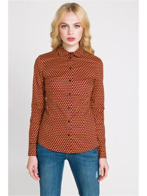 Блузка Concept Club. Цвет: коричневый
