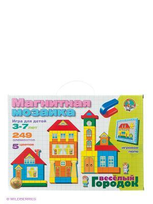 Магнитная мозаика Веселый городок Десятое королевство. Цвет: голубой, красный, желтый, белый