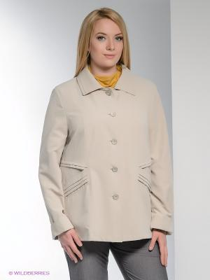 Куртка WEGA. Цвет: светло-бежевый