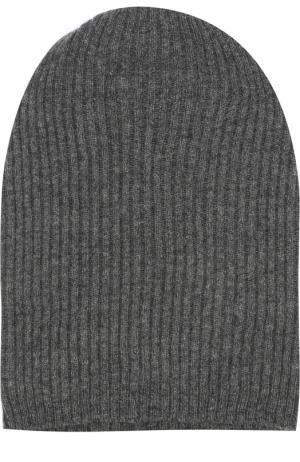 Кашемировая шапка бини Tegin. Цвет: темно-серый
