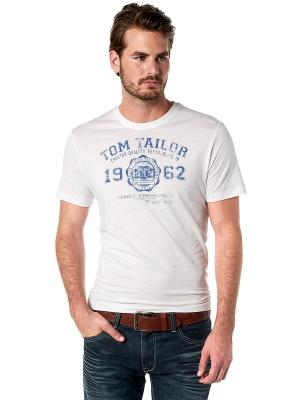 Футболка TOM TAILOR. Цвет: белый