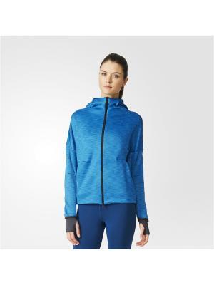 Толстовка Zne Heat Hoody Adidas. Цвет: темно-синий
