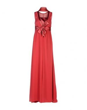 Длинное платье MUSANI COUTURE. Цвет: красно-коричневый