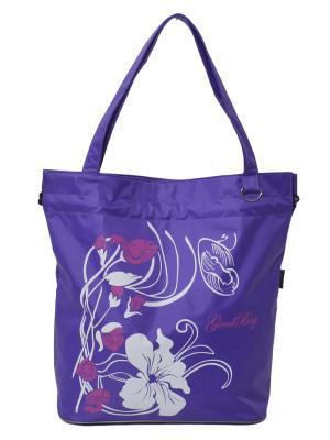 Сумка пляжная GOOD BAG. Цвет: фиолетовый