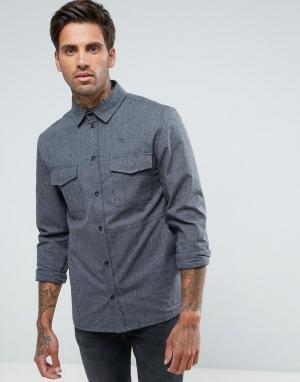 Another Influence Плотная рубашка навыпуск. Цвет: серый